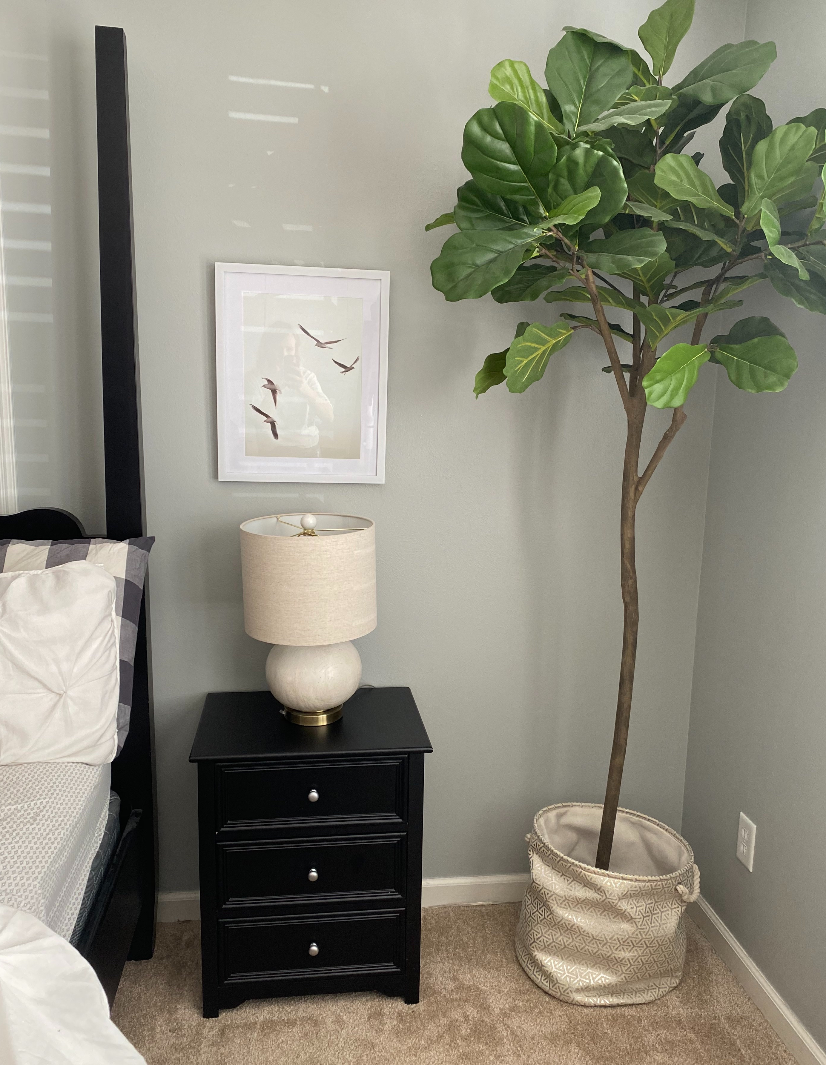Bedroom end table decor