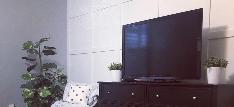 Square Panel Accent Wall