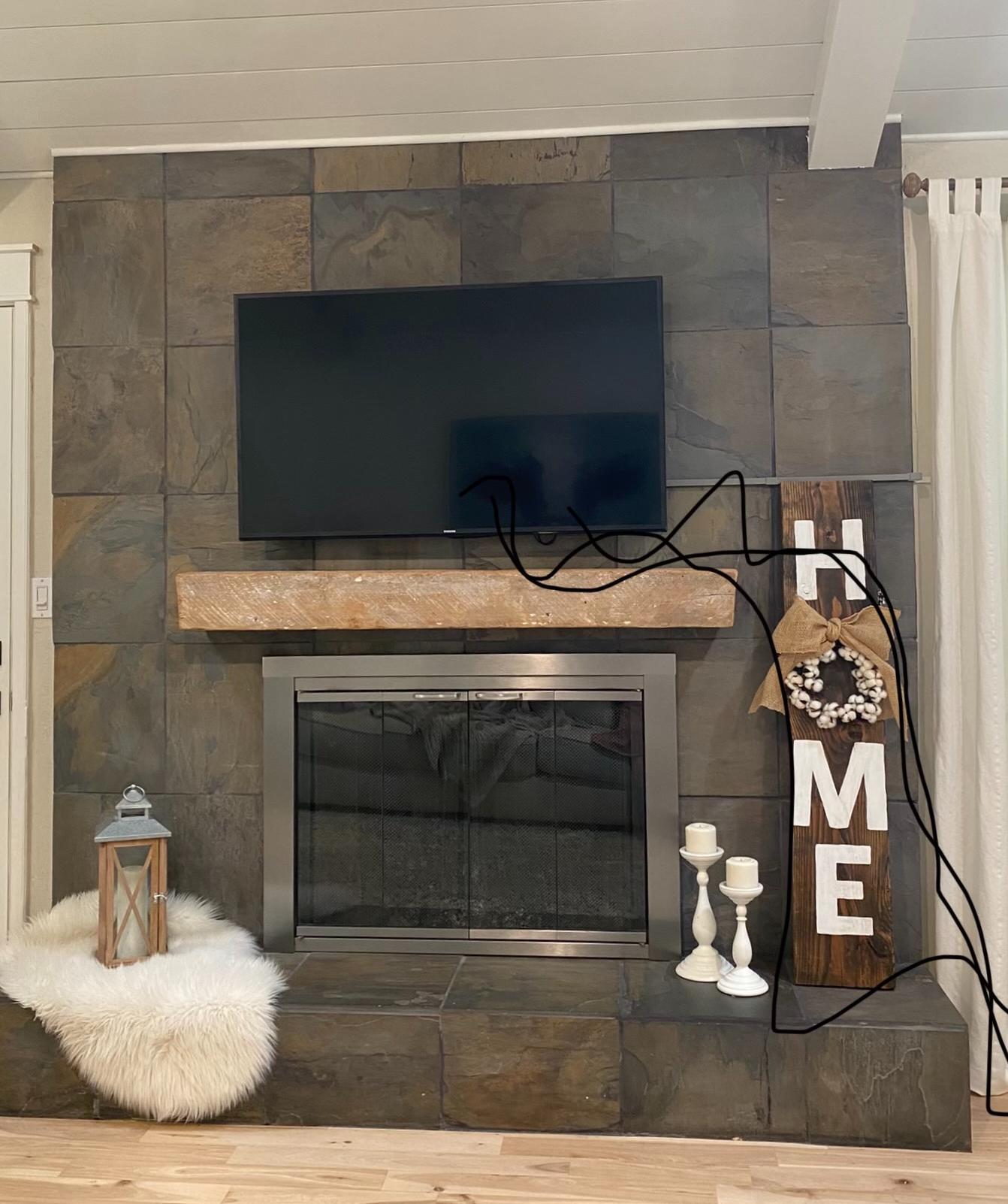 Living Room Mantel Before