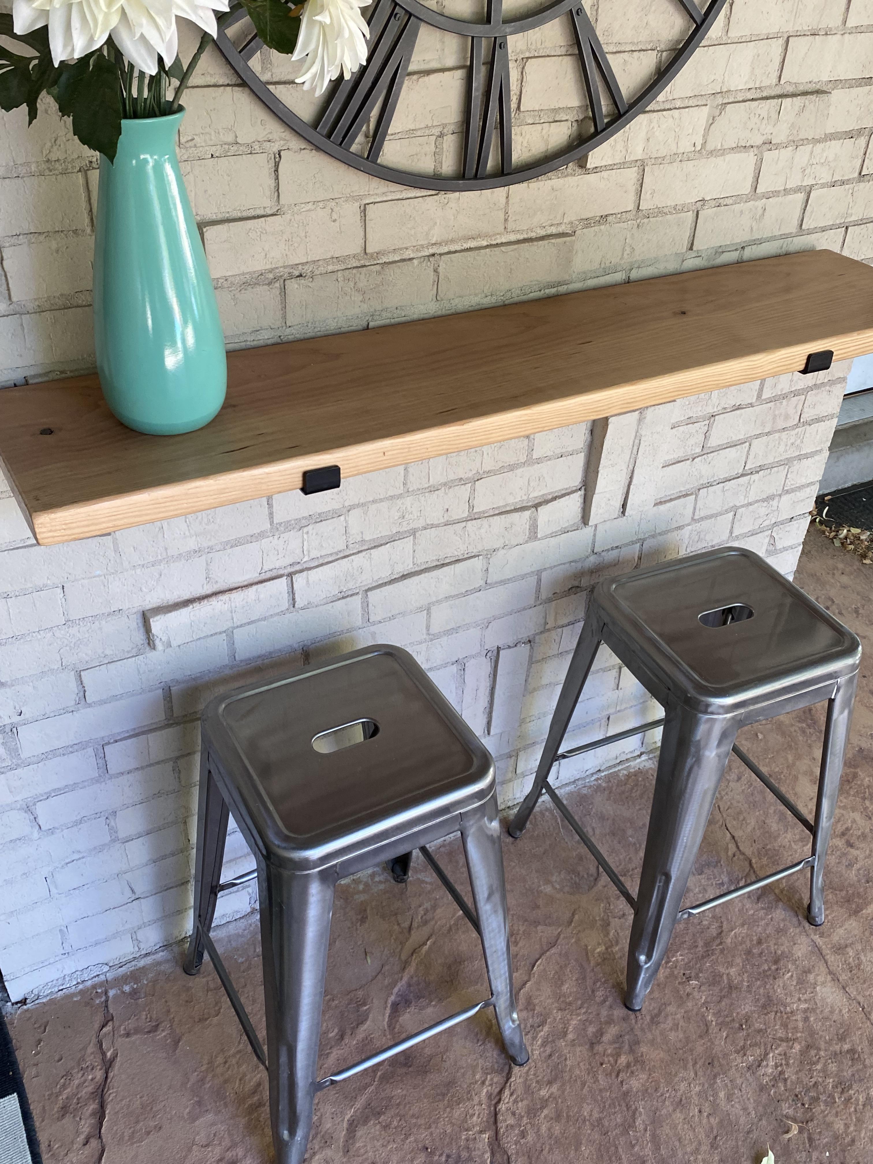 DIY Bar with stools
