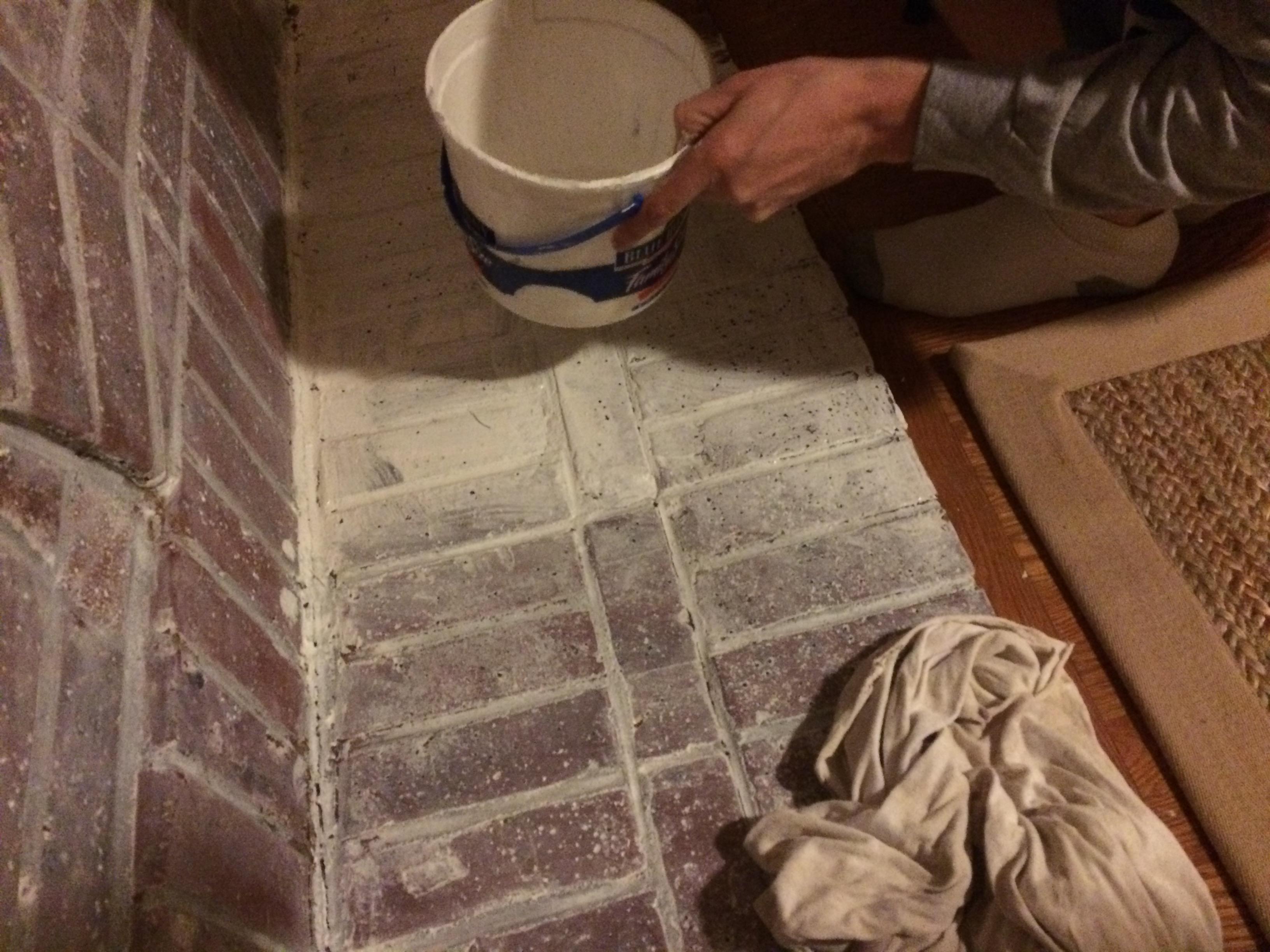 Whitewashing Red Brick